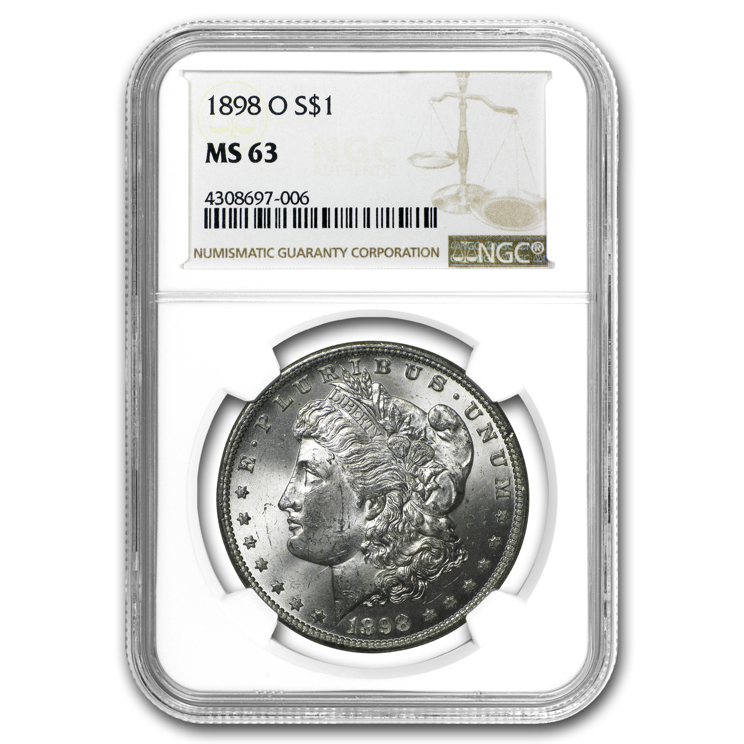 1898-O Morgan Dollar MS-63 NGC